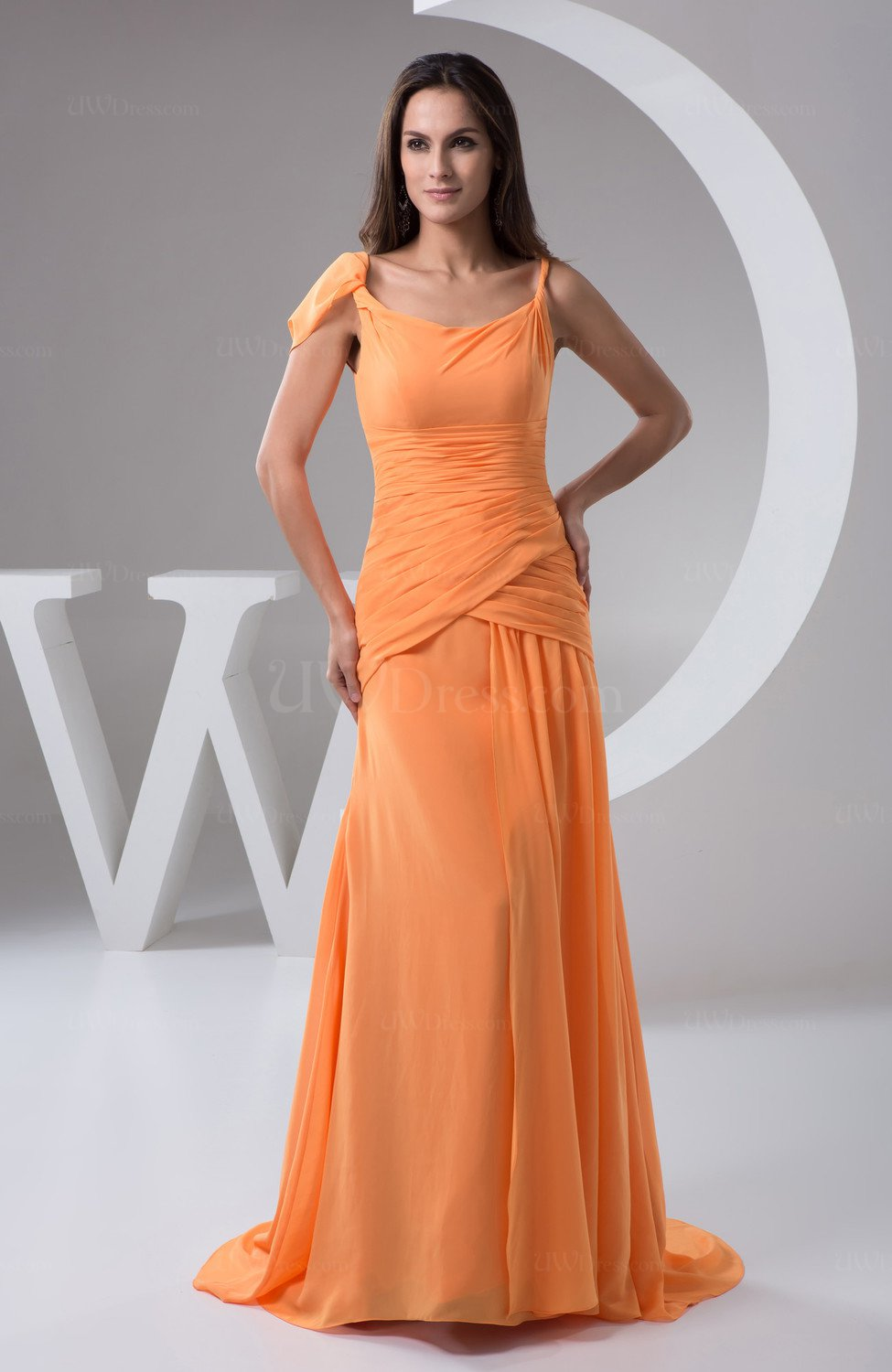 Chiffon Bridesmaid Dress with Sleeves Summer Sweetheart ...