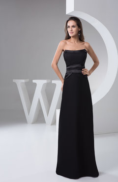 Black Long Bridesmaid Dress Country Summer Floor Length Plain Natural Tight