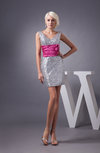 Unique Bridesmaid Dress Short Sleeveless Glamorous Simple Petite