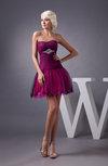 Inexpensive Bridesmaid Dress Short Backless Full Figure Natural Semi Formal