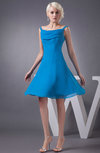 Chiffon Bridesmaid Dress Short Winter Fall Formal Casual Chic for Less