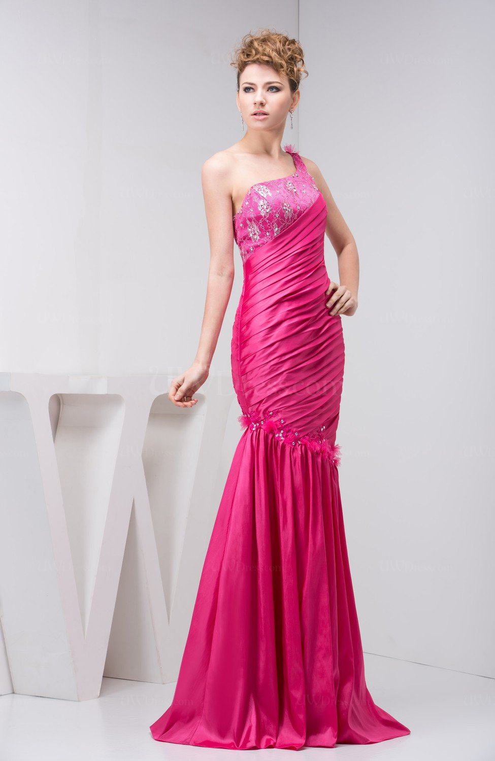 Fuschia casual wedding guest dress inexpensive luxury for Cheap wedding guest dresses
