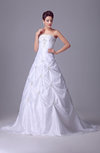 Luxury Bridal Gowns Traditional Princess Glamorous Strapless Low Back