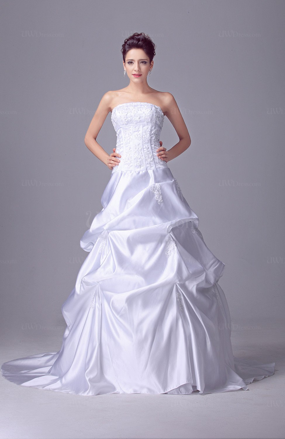 Disney Princess Bridal Gowns Luxury Sleeveless Open Back Modern Fall ...