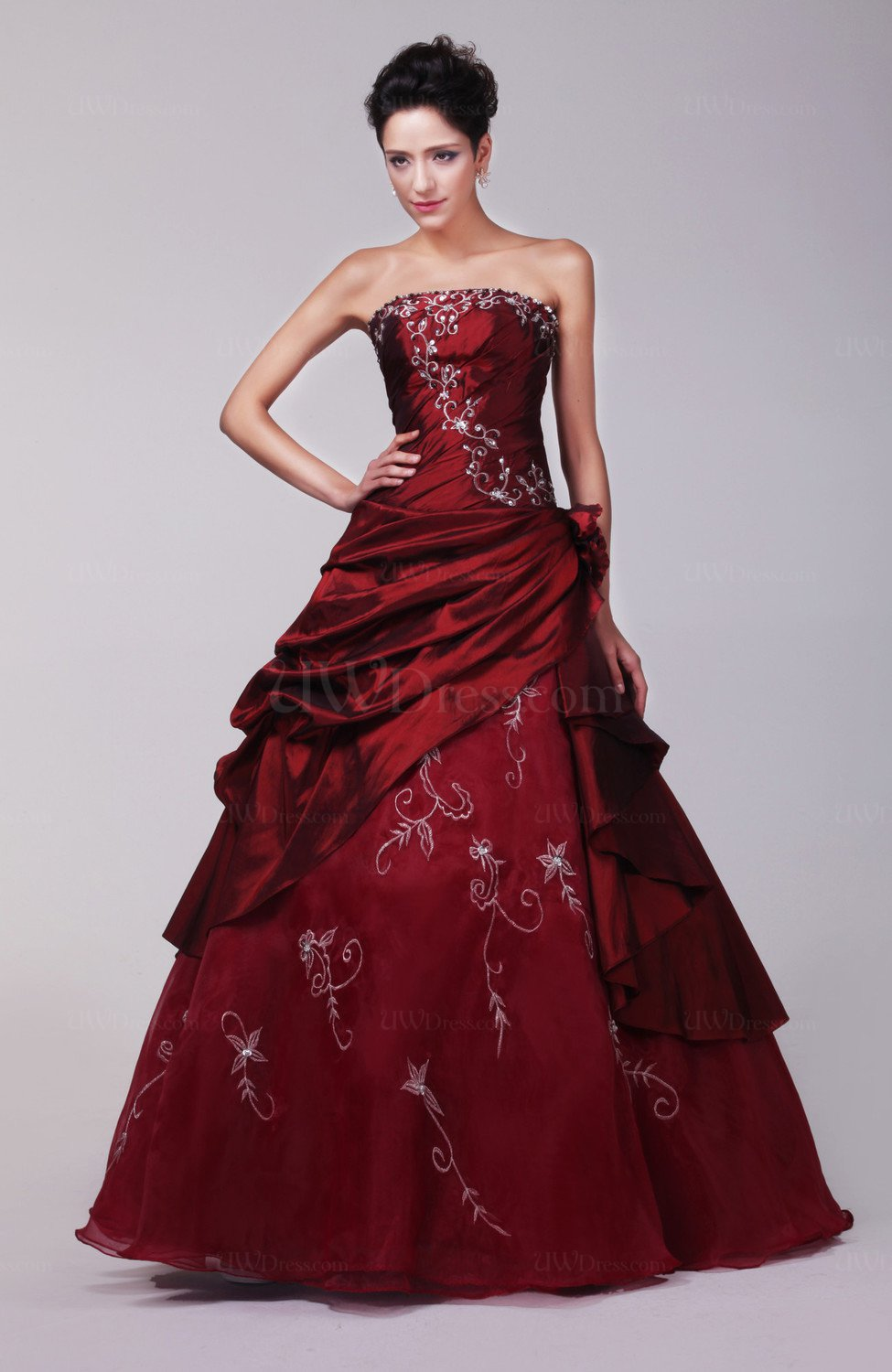 Burgundy Expensive Bridal Gowns Amazing Summer Backless
