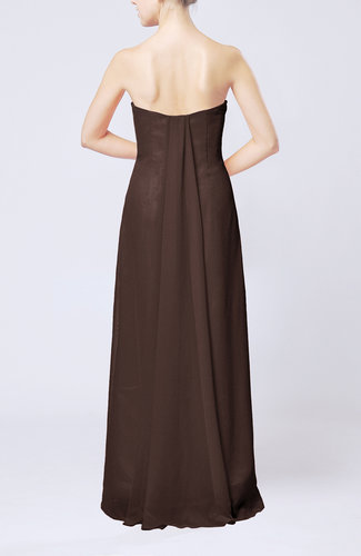 Chocolate brown elegant column sweetheart sleeveless for Brown dresses for wedding guest