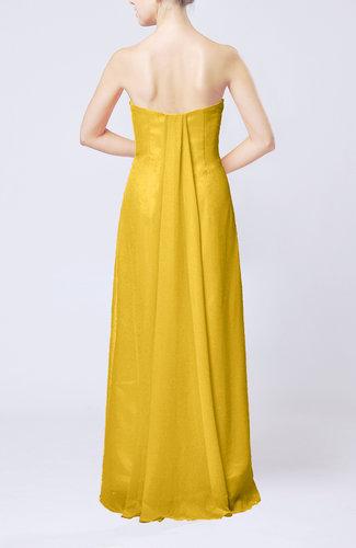 Yellow elegant column sweetheart sleeveless draped wedding for Yellow wedding guest dress