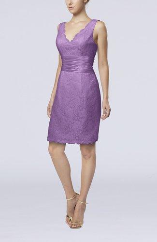 Casual V-neck Sleeveless Backless Knee Length Bridesmaid Dresses