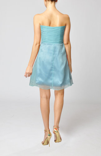 Teal Modest Sweetheart Sleeveless Mini Ruching Wedding Guest Dresses ...