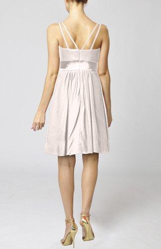 Light pink plain a line spaghetti chiffon mini sash for Light pink wedding guest dress