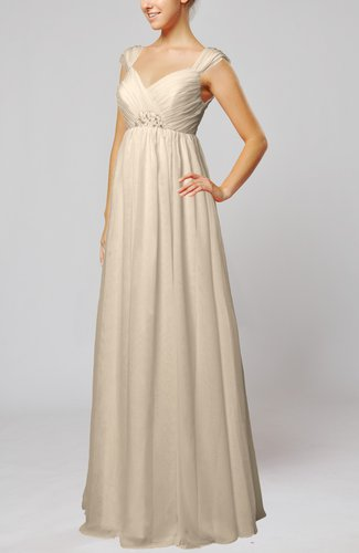 Elegant Hall Queen Anne Sleeveless Zipper Floor Length Sequin Bridal Gowns
