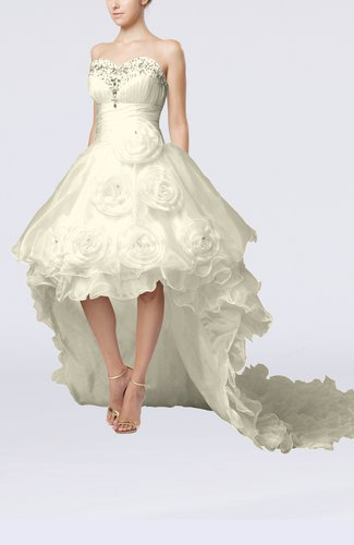 Modern Outdoor Baby Doll Sleeveless Zipper Organza Bridal Gowns