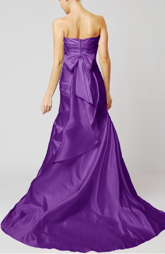 Purple Classic Outdoor Fit N Flare Sleeveless Satin Court