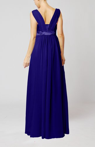 Electric Blue Wedding Guest Dresses : Sleeveless chiffon floor length wedding guest dresses uwdress