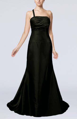 Elegant A-line Backless Taffeta Paillette Evening Dresses