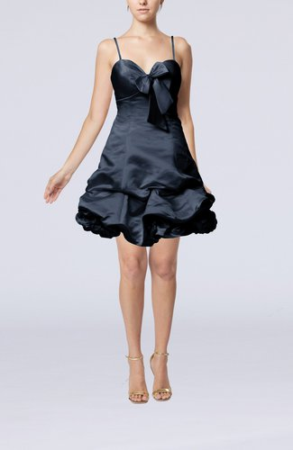 Modern Baby Doll Zip up Taffeta Mini Pick up Cocktail Dresses