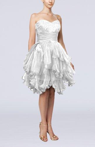 Modern Sweetheart Sleeveless Zip up Knee Length Pleated Prom Dresses