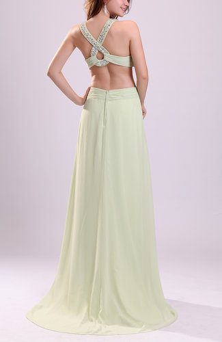 Pale Green Modest A-line Thick Straps Sleeveless Criss-cross Straps ...