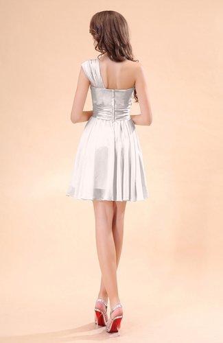 Light pink cute a line sleeveless mini ruching wedding for Light pink wedding guest dress