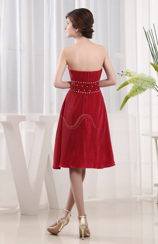 Modern sweetheart sleeveless backless elastic woven satin for Modern wedding guest dresses