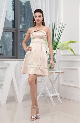 Classic A-line Spaghetti Sleeveless Short Bridesmaid Dresses