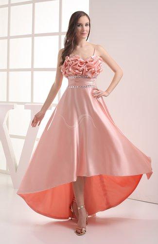 Classic A-line Sleeveless Zipper Silk Like Satin Bow Evening Dresses
