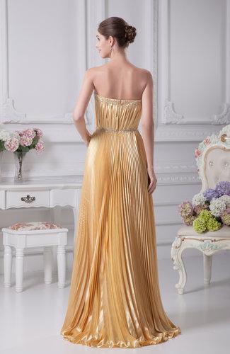 Beige casual sheath sleeveless silk like satin pleated for Casual sheath wedding dresses
