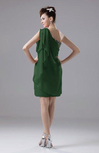 Hunter Green Cute Sheath Sleeveless Backless Knee Length