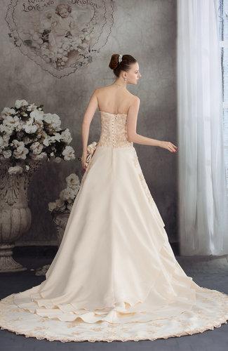 Fresh salmon disney princess church a line sweetheart for Disney line wedding dresses