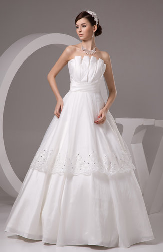 White Lace Bridal Gowns Fall Strapless Unique Country
