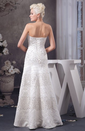 White Long Party Dress Unique Fit N Flare Strapless