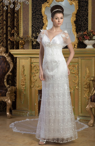 Modern Winter Wedding Dresses : With sleeves bridal gowns modest elegant country spring modern winter