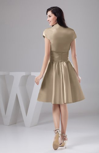 Almondine Brown Inexpensive Bridesmaid Dress Affordable A Line Plus