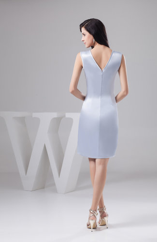 Lavender Blue Beach Bridesmaid Dress Affordable Traditional Full