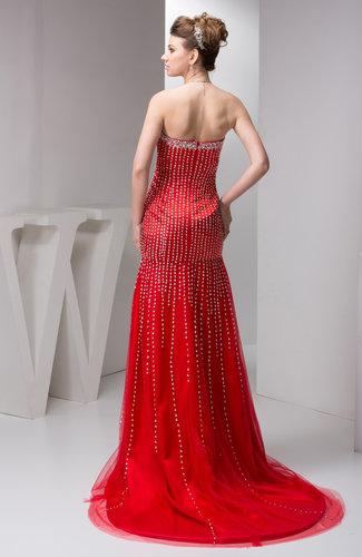 Red Long Evening Dress Formal Semi Formal Trendy Spring Modern Chic