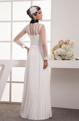with Sleeves Prom Dress Lace Long Sleeve Traditional Illusion High ...