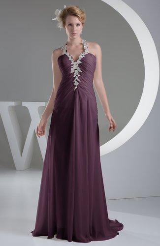 Plum Chiffon Bridesmaid Dress Inexpensive Traditional Winter Mature