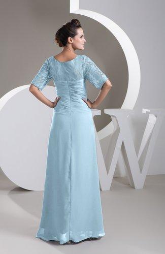 Ice Blue with Sleeves Bridesmaid Dress Chiffon Classy Apple Trendy ...