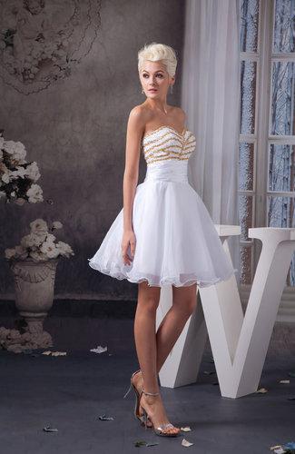 White Beach Bridesmaid Dress Country Sleeveless Semi