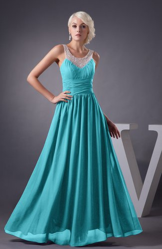Turquoise Chiffon Bridesmaid Dress Country Chic Summer Simple Plus