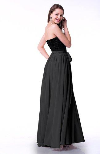 Black Modern Sweetheart Zip up Chiffon Ribbon Plus Size Prom Dresses ...