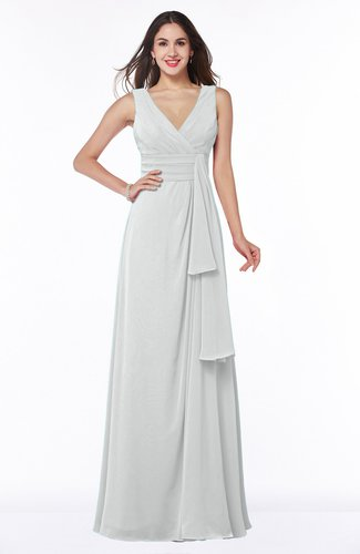 Vintage Sleeveless Zipper Floor Length Sash Plus Size Bridesmaid Dresses