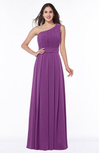 Plain Asymmetric Neckline Sleeveless Half Backless Floor Length Plus Size Bridesmaid Dresses