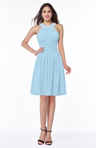 Glamorous Sleeveless Zipper Knee Length Ribbon Bridesmaid Dresses