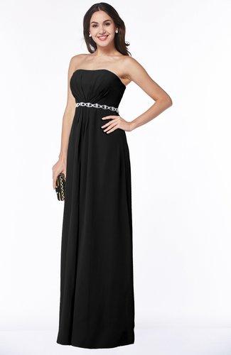 Sexy A-line Sleeveless Zipper Chiffon Floor Length Plus Size Bridesmaid Dresses