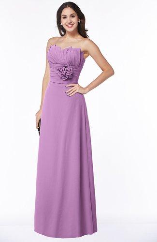 Sexy Sleeveless Half Backless Chiffon Floor Length Ribbon Plus Size Bridesmaid Dresses