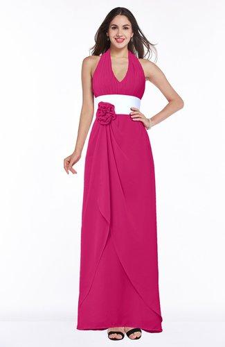 Beetroot Purple Glamorous A Line Sleeveless Zipper Chiffon Plus Size