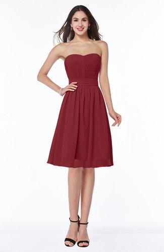 Plain A-line Sweetheart Zip up Ruching Bridesmaid Dresses