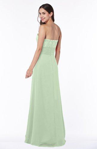 Light green disney princess a line strapless zipper for Disney line wedding dresses