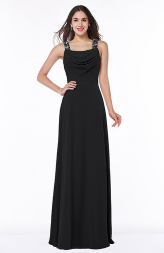 Gorgeous A-line Thick Straps Half Backless Floor Length Plus Size Bridesmaid Dresses